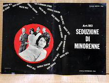 ART. 182 SEDUZIONE DI MINORENNE fotobusta poster affiche Hermann Leitngr AE8