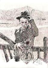 WAITS AT THE GATES Tom Waits limited print signed artwork 8.5x11 #29/100
