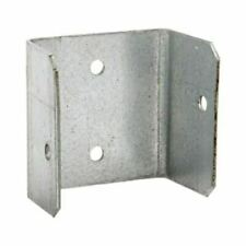 More details for fence panel clips 40mm 46mm 52mm galvanised brackets fencing post panel clips