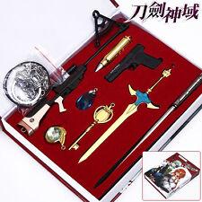 Sword Art Online Set of 8x Swords Blades Gun Weapon Pendant Cosplay Gift Boy