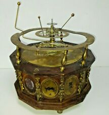 Antique Mechanical Clockwork Orrery Clock Planets Solar system for Repair
