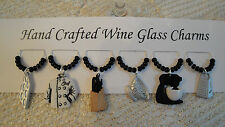 """""""CHEF Or COOK""""  SET OF 6  Wine Glass Charm Drink Markers"""