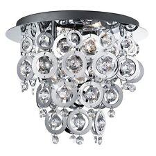Lustre Luminaries Redbull Plafond Lampe Chrome Pendeloques en Cristal Plafonnier