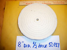 "Extra-Wide 3/4""-Thick 8"" Inch Buffing Wheel 1/2"" Arbor Hole Polishing Wheel"