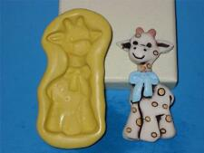 Baby Giraffe 2D Push Mold Resin Clay Candy Food Safe Silicone A409 Baby Shower