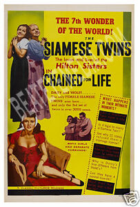 CHAINED FOR LIFE MOVIE POSTER-FREAKS-SIDESHOW,CIRCUS