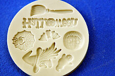 Halloween Set, Silicone Mold Chocolate Polymer Clay Jewelry Soap Melting Wax