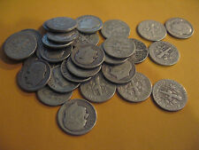 ROLL 1949 D KEY DATE Silver Roosevelt Dimes Circulated 50 Coins FREE SHIPPNG