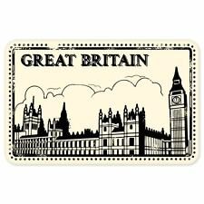 "Great Britain travel car bumper window suitcase sticker 5"" x 3"""