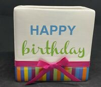 Happy Birthday Ftd Ceramic Vase Planter Container Holder Gift Bag