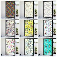 3D Privacy Static Cling Frosted Stained Window Film Flower Glass Sticker Decor