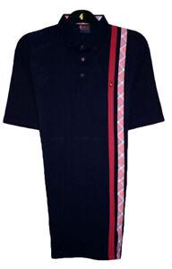 Gabicci - Plain polo shirt with plain and check side stripes