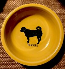 New W/ Out Tags Fiesta •Puggle• Happy Hybrid Dog Yellow Bowl. Approx 7 Inches