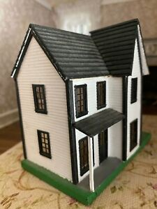 Vintage Miniature Dollhouse Child's Doll House Artisan 1:48 Scale Victorian Wood
