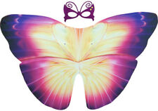 Purple Butterfly Wings Child's Cape & Mask, Summer Fun, Dress Up, Role Play.