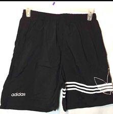 Vintage Adidas Trefoil Black White Athletic Shorts Size XL No Drawstring