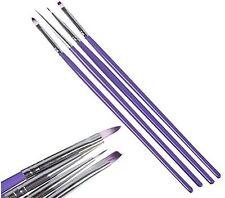 4 pinceles - Set de pinceles de Gel color violeta - uñas de gel - estética -