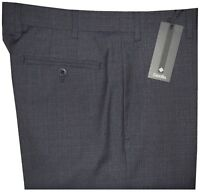 $365 NWT ZANELLA ITALY NORDSTROM DEVON DK BLUE-GRAY 130'S WOOL DRESS PANTS 40