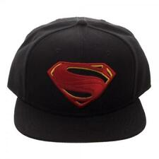 SUPERMAN ICON EMBROIDERED SNAPBACK BASEBALL CAP HAT OFFICIAL DC MERCHANDISE NEW!