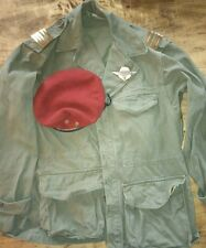 Lot Belle veste vareuse terrain Française Algérie 1956 jacket beret brevet para