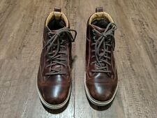 Clarks Norsen Mid High Top Brown Leather Shoes Sneakers Men's Size 9.5