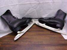 Vintage Men's Imperial Black Ice Skates Sz-11 Hardened Tempered Blades protector