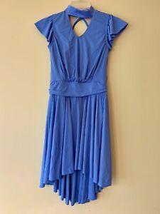 New! Lyrical Jazz Dance Dress Blue Adult Medium Weissman