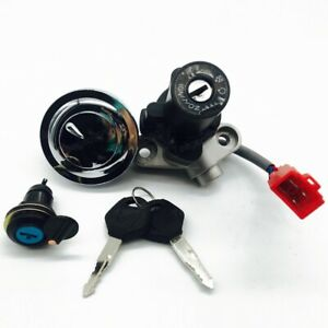 Ignition Switch Fuel Gas Cap Seat Lock Key Set For Yamaha XVS1100 2000-2003 New