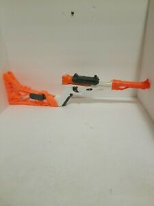 NERF Sharpfire 6 in 1. Includes 10 Pack of Darts. Pre Owned Working Orange/White
