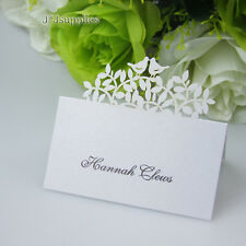 100x Birds Name Place Cards Wedding Guest Names Table Cards,Favor,Laser Cut