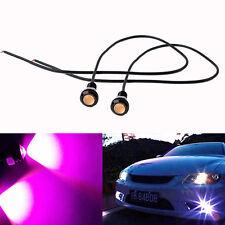 2pcs 9W 18mm 12V 24V Purple Pink LED Eagle Eye Light Car Fog DRL Daytime Lamp DC