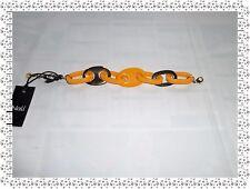 Magnifique Bracelet Vintage Doré Orange  Nali Taille 25 cm