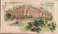 1904 St. Louis World's Fair Postcard ~ Education & Social Economy Building