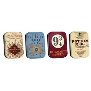 Harry Potter Set of 4 Timeless Small Metal Storage Tins