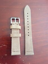 New High Quality Men's Suede Leather Brown Watchstrap 18 mm