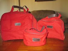 RED CANVAS DUFFLE BAGS 1- 15X10, 1- 10X9, 1- 8X4 3 BAGS TOTAL