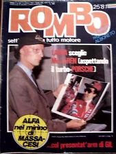ROMBO n°25 1981 Speciale Super Karts Lennart Bohlin - Niki Lauda  [P26]