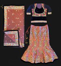 Indian Bridal Pakistani Wedding Dress Lehenga Choli Party Wear Sequin Bride