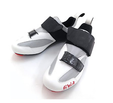 Fizik Men's K5 Uomo Triathlon Microtex Nylon Mesh Cycling Shoes Grey/Red Sz 45.5