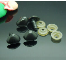 100pcs Black Plastic Safety Nose Triangle For Doll Animal Stuffed Toys 15*11.5mm