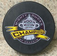 Anaheim Mighty Ducks NHL 2003 Western Conference Champions Official Hockey Puck