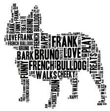 Personalised French Bulldog Word Art Print Great Gift Mum Dad Friend Birthday