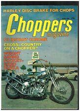CHOPPERS MAGAZINE APRIL 1976 HELLS ANGEL'S CHOPPER 70's CUSTOM STREET CHOPPERS