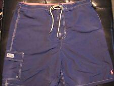 NEW 1XL BIG XB XLB Ralph Lauren POLO Swimsuit NAVY BLUE w SALMON RED PONY $70