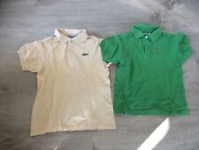 d32c1282cabb Lot 2 Polo manches courtes T-shirt Lacoste enfant 6 8 Ans Vintage Collector