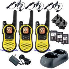 Motorola Talkabout MH230TPR Walkie Talkie 3 Pack Set 23 Mile Range Two Way Radio