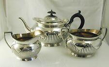 Georgian style tea set Elkington plate tea pot cream jug sugar bowl dated 1909