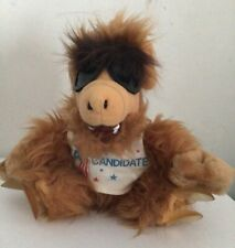 """Vintage 80s 9"""" ALF Plush #1 Candidate Window Cling Suction Cup Car Toy"""