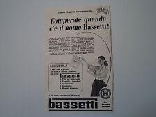 advertising Pubblicità 1956 BASSETTI