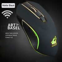 HN- X9 Rechargeable Wireless Silent LED Backlit USB Optical Gaming Mouse Eager